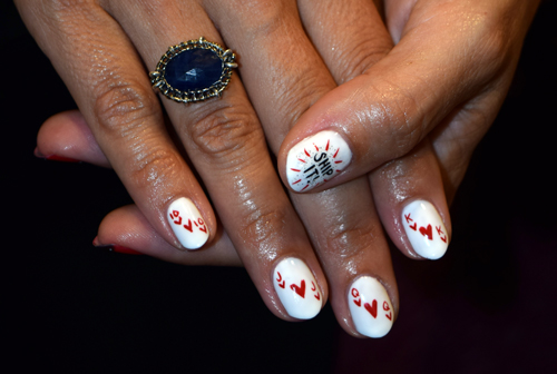 Best 3 spots for creative austin nail art poker cards nail art in austin prinsesfo Gallery