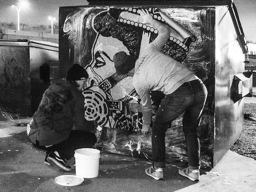 Queen Eli Dumpster Art by Jason Eatherly