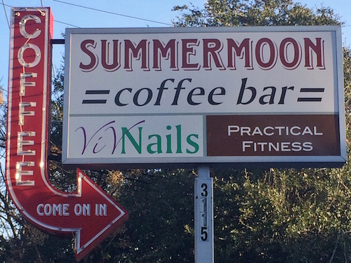 Summermoon Coffee Sign