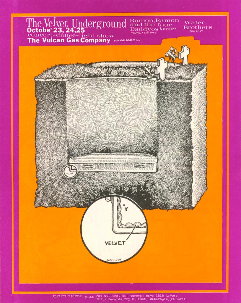 Velvet Underground Music Poster at Vulcan Gas Company
