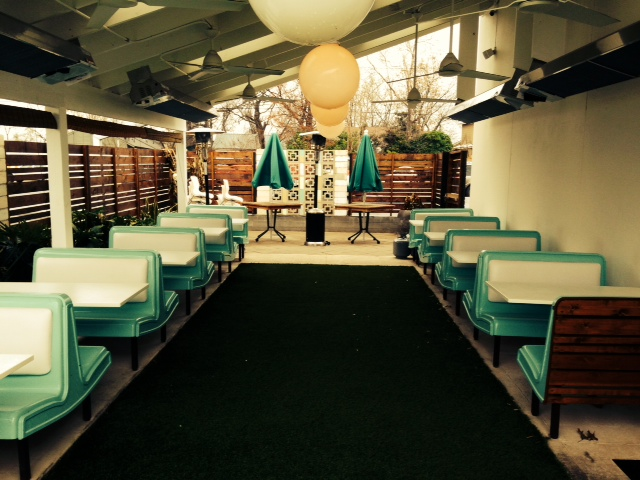 Restored Arkie's Grill Booths at Sawyer and Co