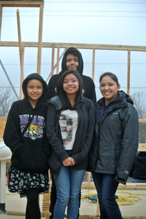 The Limon family Austin Habitat for Humanity Family Partners