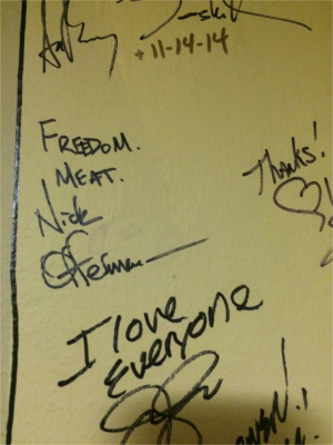 Nick Offerman Paramount Theatre Wall Scribble