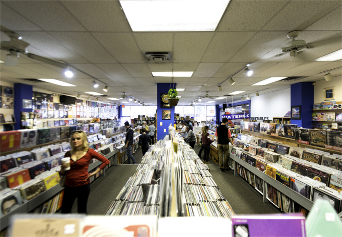 Waterloo Records Selection in Austin