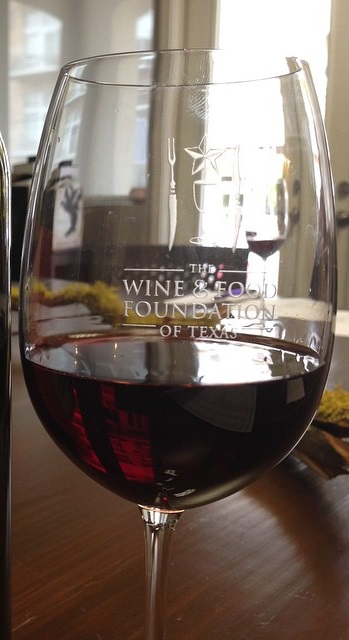 Wine and Food Foundation of Texas Wine Glass