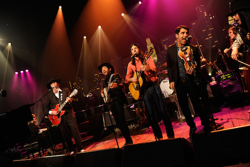 Asleep at the Wheel on stage with The Avett Brothers