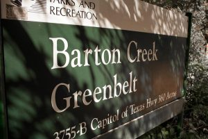Barton Creek Greenbelt Sign