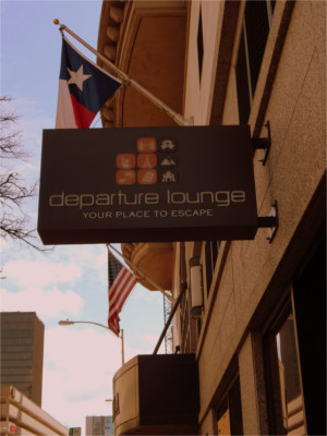 Departure Lounge Sign in Austin