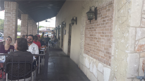 El Meson Patio Seating in Austin