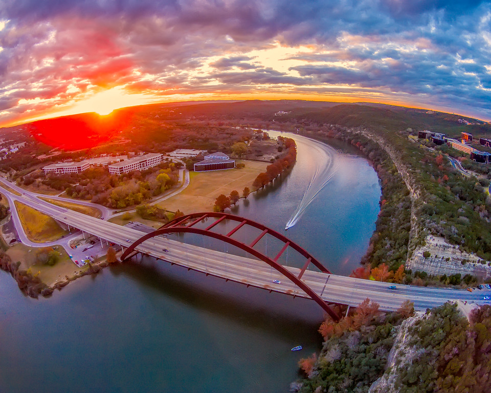 Pennybacker Bridge Aerial Austin