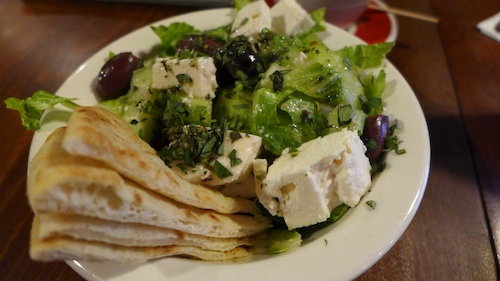OPA greek salad in Austin