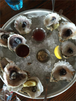 Monger's Market Oysters in Austin