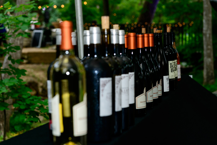 Wine Selection at Umlauf Garden Party