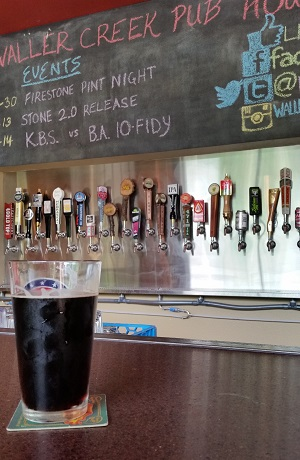 Waller Creek Pub House Beer and Wall