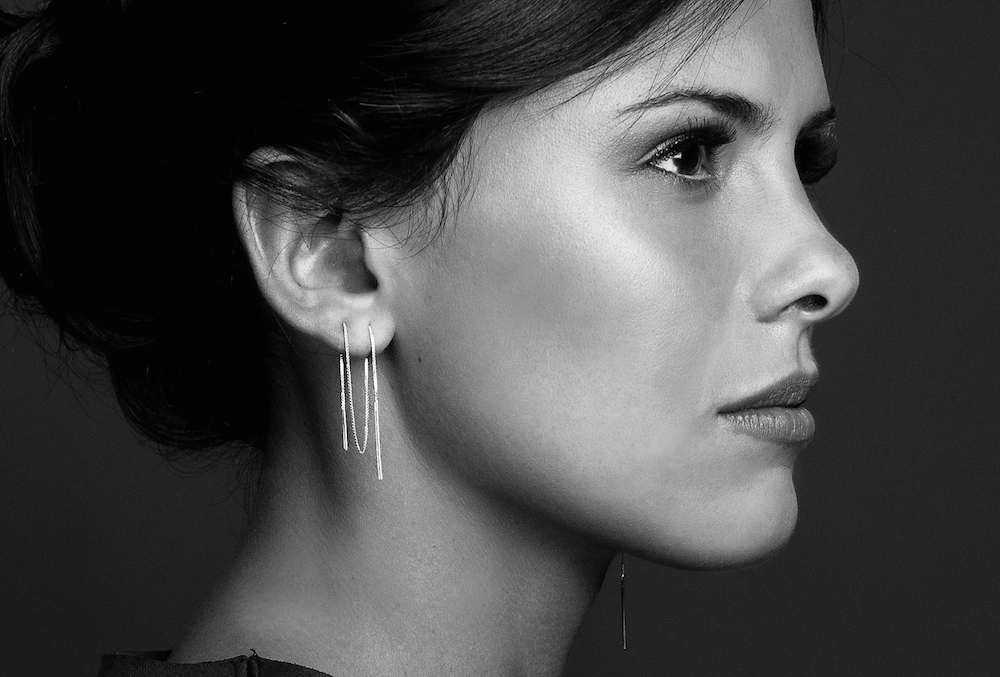 Silver threader chain earrings by Haley Lebeuf Jewelry
