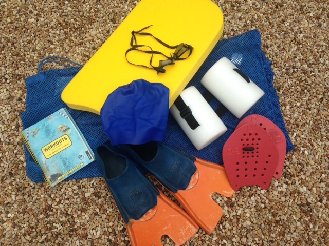 Equipment for workouts in the pool