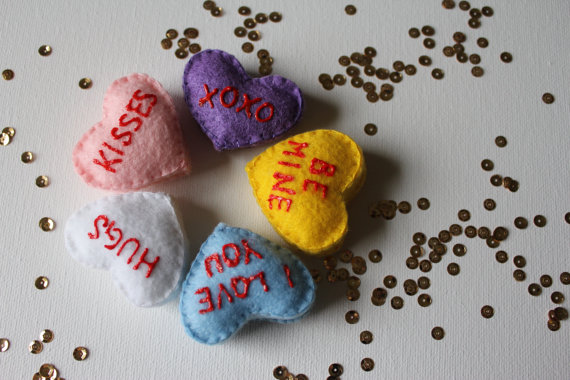 Felt Candy Hearts by Sew Knot Write