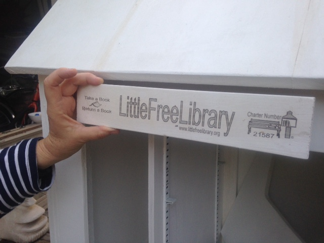 Little Free Library charter sign