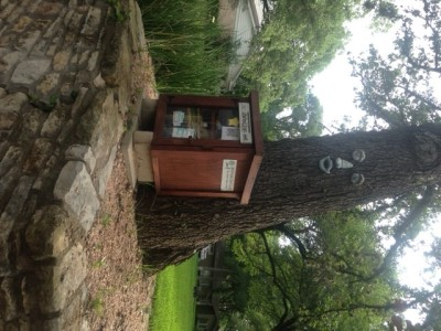 Little Free Library Rests on Posts
