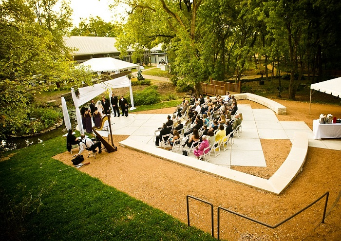 Wedding at the Umlauf Sculpture Garden