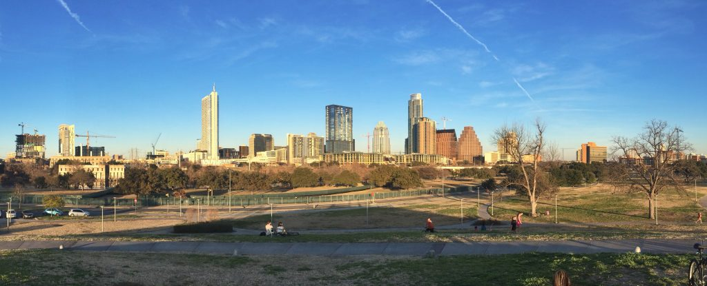 View of downtown from Palmer Events Center (Photo credit Jessica Pino)