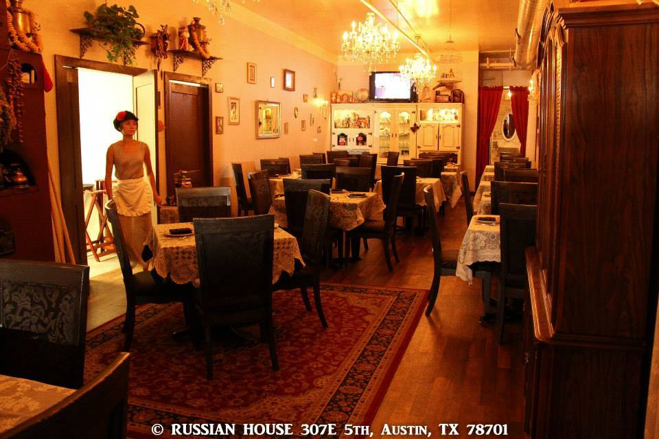 Russian House Austin Dining Area