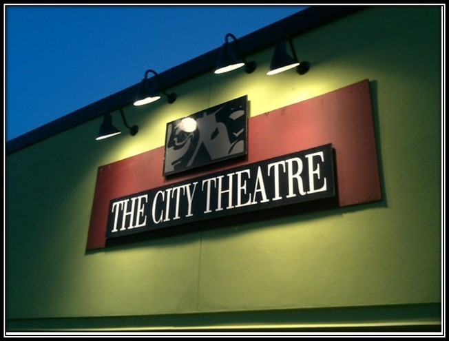 The City Theater Sign Airport Blvd