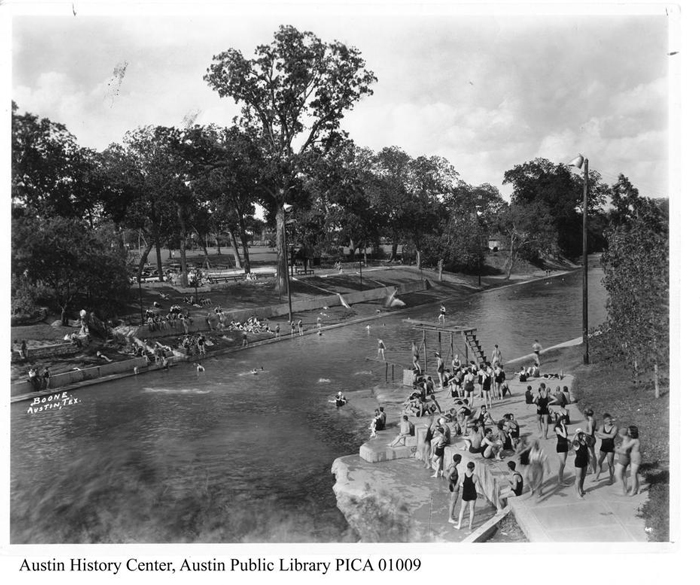 Barton Springs Pool during the 1930s