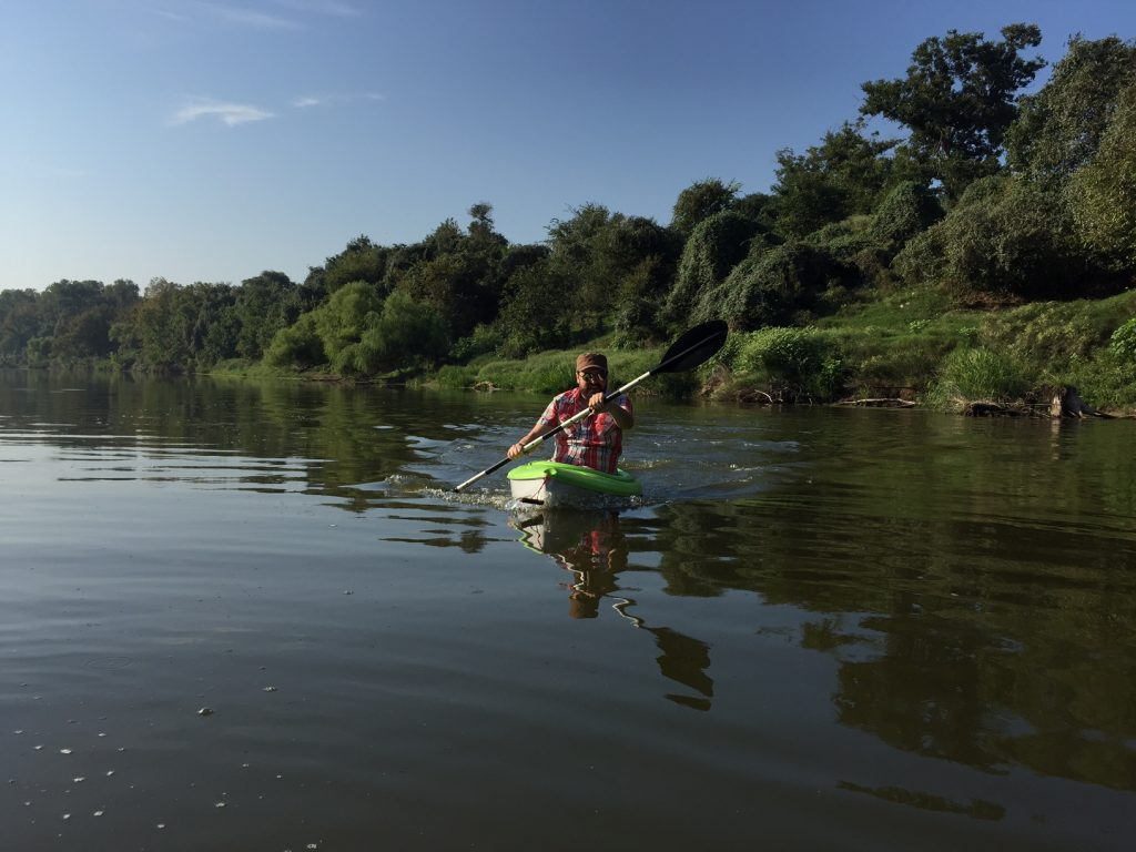 Kayaking Colorado River in La Grange