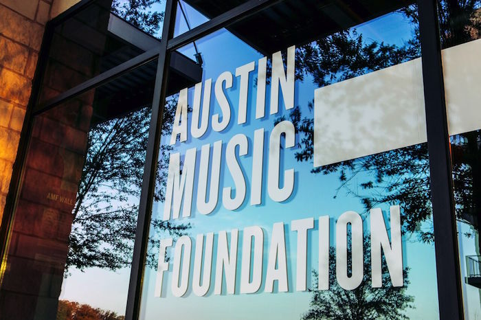 Austin Music Foundation Front Sign