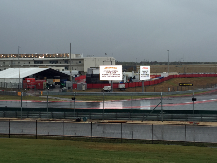 Circuit of the Americas Rainy Race Track
