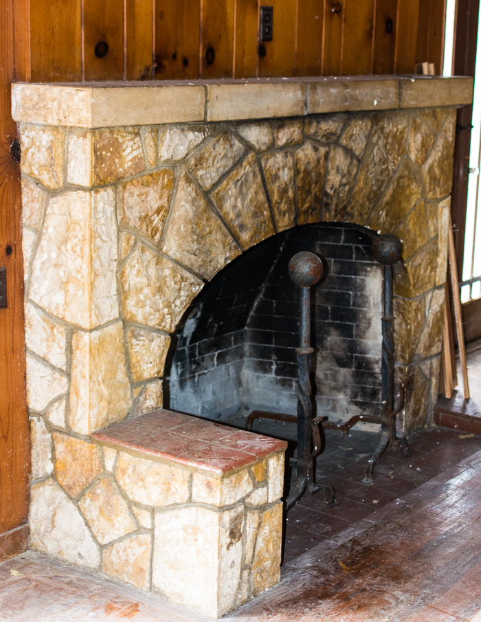 old fireplace at Texas Keeper cidery