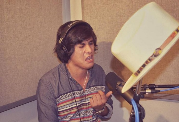 Julian Acosta in the Recording Studio