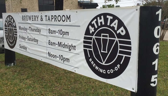 4th Tap Brewing Cooperative Sign