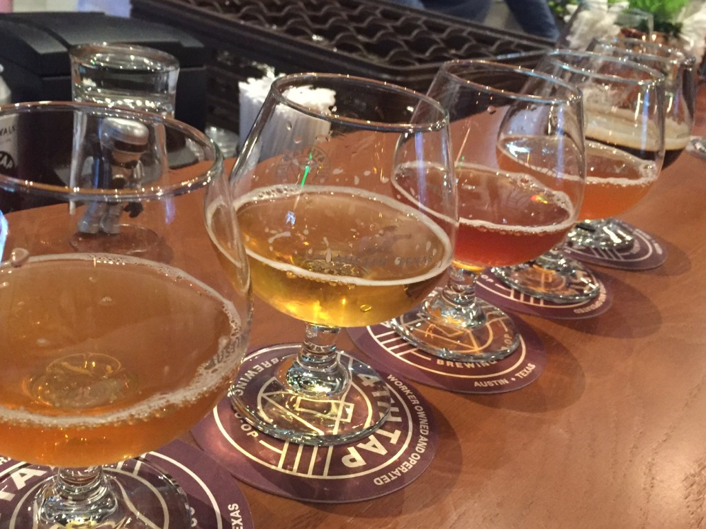 Beer Flight at 4th Tap Brewing in Austin