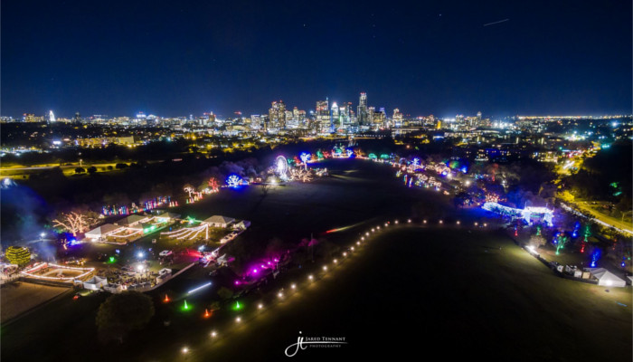 Trail of Lights 2015 Aerial