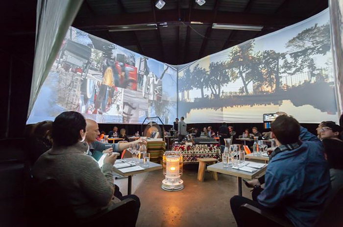 Monkey Town Dinner with Video Projectors
