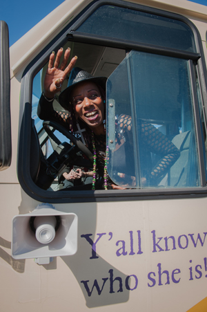 Lola Stephens-Bell New Food Delivery Bus