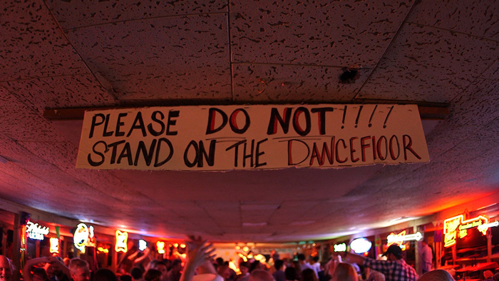 Do Not Stand on the Dancefloor Broken Spoke Sign