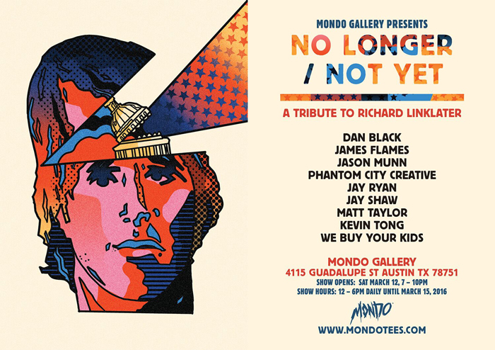 No Longer not Yet Linklater Event Flyer