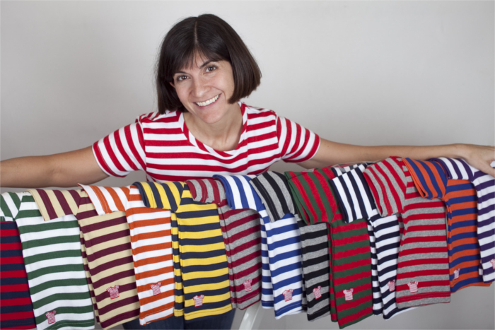 Laura Beck Founder Striped Shirt