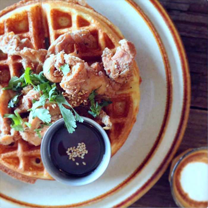 Thai Fresh Chicken and Waffles