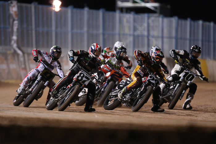 Crowd of motorcycles X Games Austin Flat Track Racing