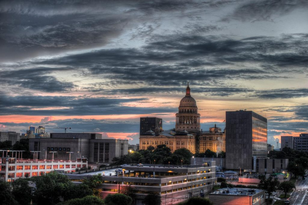 Texas State Capitol Building Sunset