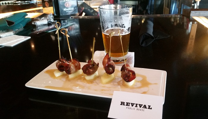 Bacon Wrapped Dates At Revival Public House