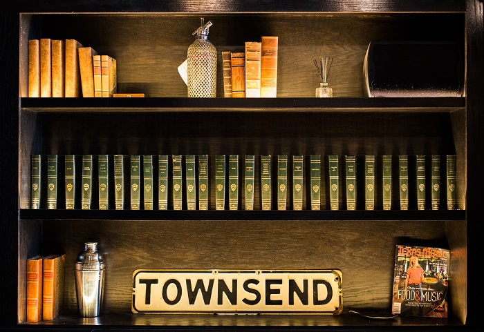 The Townsend Bar Bookcase