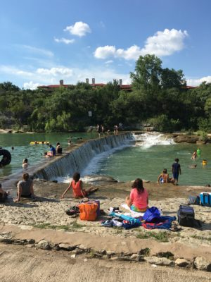 Blue Hole Swimming in Georgetown Texas