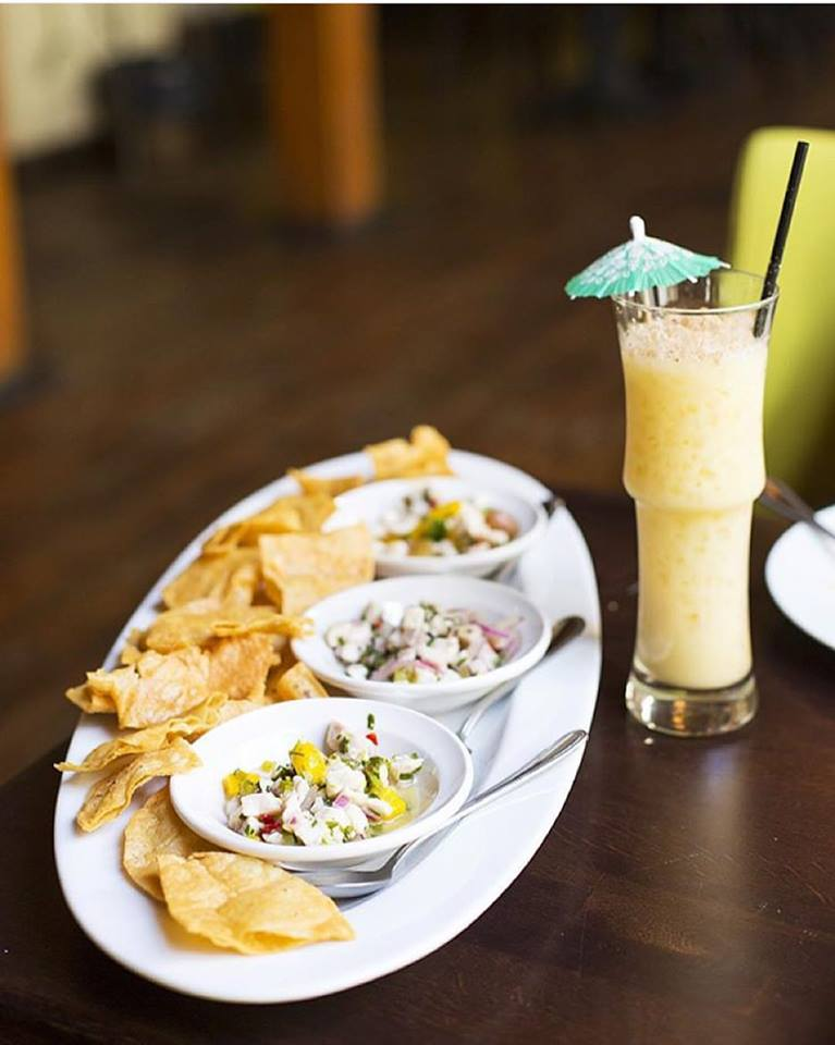 The popular Painkiller with the Ceviche Trio.