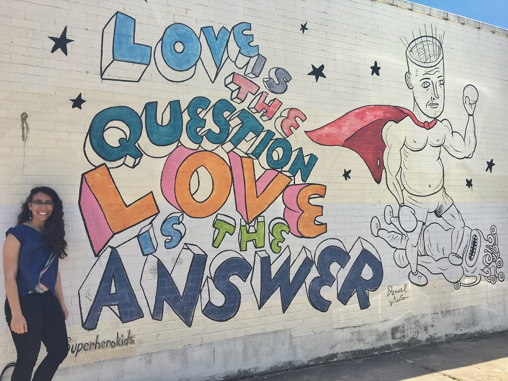 1950 39 s soda fountain lives on at nau 39 s enfield drug in austin for Daniel johnston mural