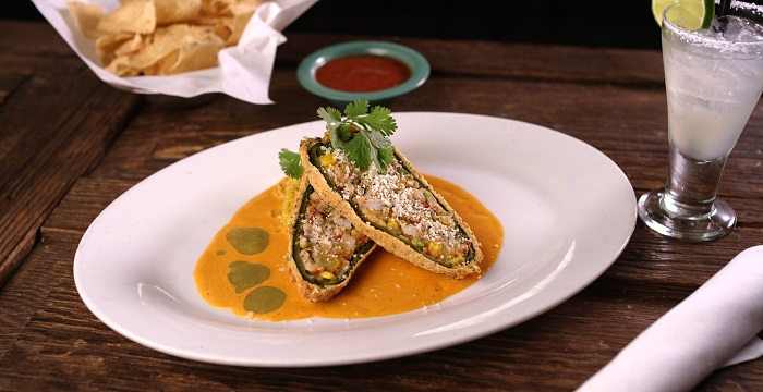 Cornmeal Crusted Stuffed Hatch Chile Relleno at Z'Tejas